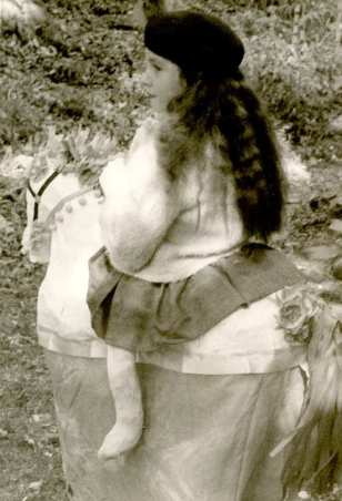 Betty Safran in her horse riding costume