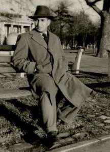 Bernie Safran in park 1950