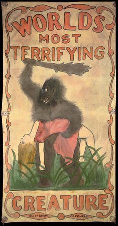 circus poster of gorilla